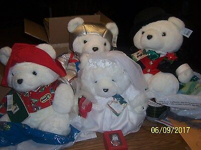 4 Santa Bears Mr & Mrs, Spaceman and Traveler