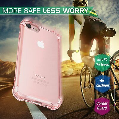 Slim Crystal Clear Pink Girly Case Hard TPU Protector Cover For iPhone 7 7 Plus