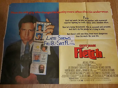 Fletch Chevy Chase Original Quad Film Movie Poster n national lampoons