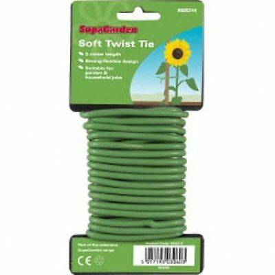 5M Green Soft Flexible Bendy Garden Plant Support Wire Twine Cable Twist Tie