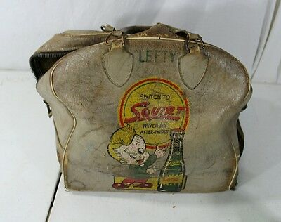 Vintage Antique Advertising Squirt Soda Bowling Bag Pop
