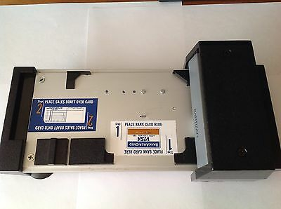 Vintage Manual Credit Card Imprint Machine Bartizan Model CM1016AX Chargemate