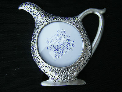 "Pewter Ruth Reynolds Darby Ashleigh Manor Teapot Frame Fits 2"" x 2"" Photo - Cute"