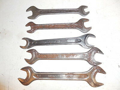 Lot Of 5 Mercedes Benz  Open End Wrenchs For Tool Kit
