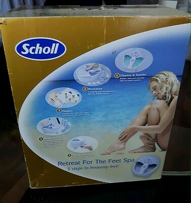 Scholl Vibrating Warm Water Foot Spa Massager Bubble Jets