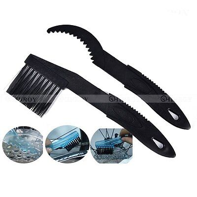 2Pcs/set Cycling Bicycle Chain Wheel Cleaning Cleaner Scrubber Brush Tool