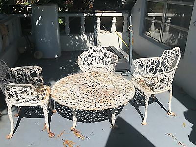 Very Heavy Old Antique Iron Patio Set