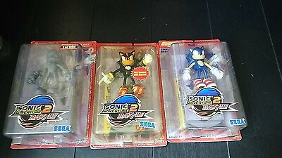 sonic adventure 2. Sega game pro joyride set of 3 action figures prototype set