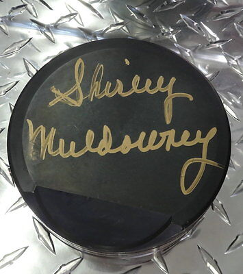 """NHRA: Signed 4"""" Piston Autographed by Shirley Muldowney"""