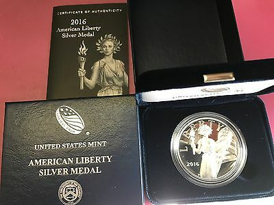 2016-S 1 oz. Proof Silver American Liberty Medal with mint packaging low mintage