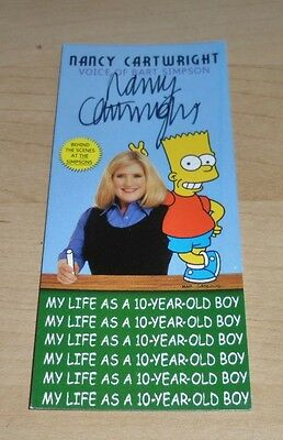 SLIGHTLY CREASED Nancy Cartwright Signed Promo Card The Simpsons Autograph + COA