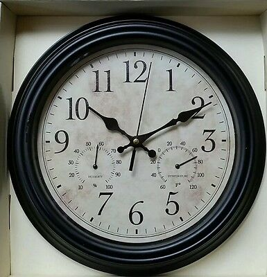 Traditional Lincoln Wall clock by Perfect timing Retro shabby chic vintage Black