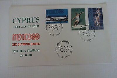Cyprus First Day Of Issue, Mexico XIX Olympic Games 1968
