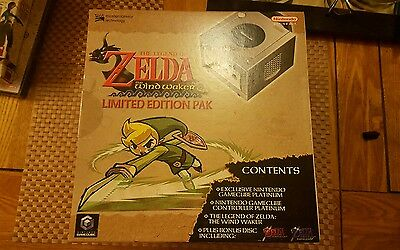 Brand new Nintendo gamecube console. Limited edition zelda with preorder guide.