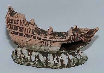 Boat Ship Wreck Underwater Aquarium ornament fish tank Decoration Gift