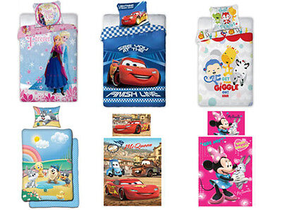 Baby Kinder Bettwäsche Set 2-tlg Baumwolle Frozen Cars 100x135 Mickey Mickey