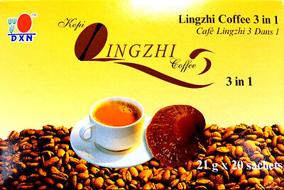 5 boxes of DXN Lingzhi 3 in 1 coffee with ganoderma lucidum mushroom
