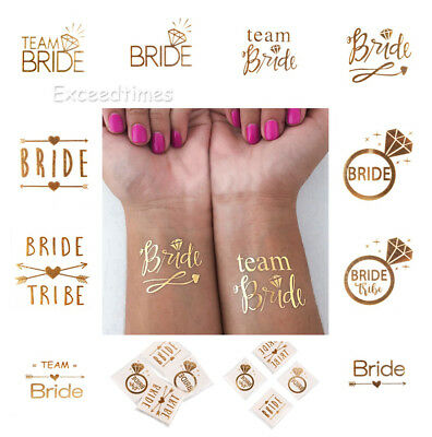 Team Bride Tattoo Temporary Transfer Hen Night Party Accessories Wedding Decor