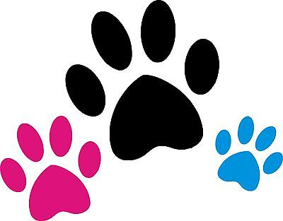PAWS Wall Art Stickers (decals) 4 x Sizes - gloss Finish - Tiles, Glass, Cars