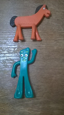 Vintage 1989 Prema Toy Co. Bendable Rubber Figure of Pokey & Gumby Pony/Horse