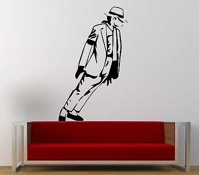 MICHAEL JACKSON - WALL ART STICKER - Moonwalking - Great Wall Decal for any room
