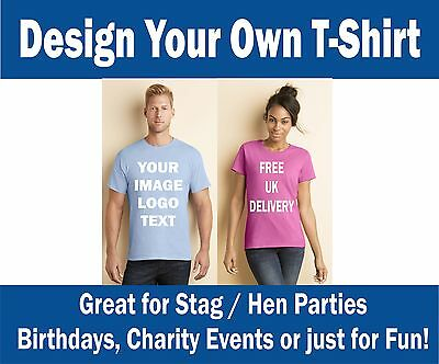 Design Your Own Printed T-Shirts, Any Image, Graphic, Text, Parties, Fun, Unique