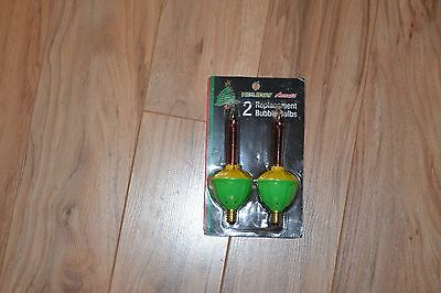 Vintage Unopened Packs Bubble Light Replacement Bulbs 2 Lights Holiday Accents