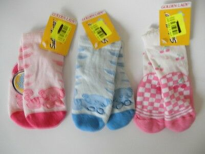 lot de 3 paires de chausette fille 6/12 mois golden lady