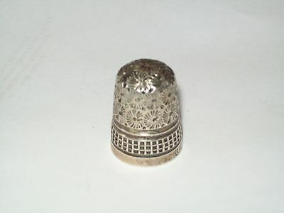 Antique Solid Silver Thimble   J.r   Nice Clean Condition