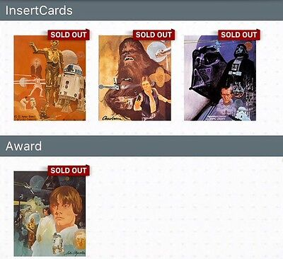 TOPPS DIGITAL Star Wars Card Trader: Freedom for the Galaxy Set+Award (4 cards)