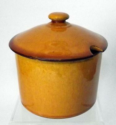 Watcombe Pottery Lidded Sugar Bowl or Preserve Pot made in Red Earthenware