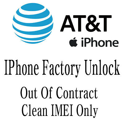 FACTORY UNLOCK SERVICE FOR AT&T IPHONE 7 6S 6s+ 6 6+ SE 5S 5C 5 4 CLEAN ONLY