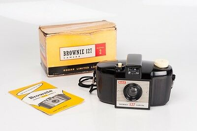 Kodak Brownie 127 model 2  / Bakelite Box and Instructions