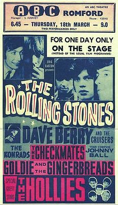 Rolling Stones Concert  METAL TIN SIGN POSTER WALL PLAQUE