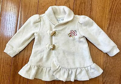 Ralph Lauren Infant Girl's Size 6 Months Toggle Sweater Sweatshirt Shawl Neck