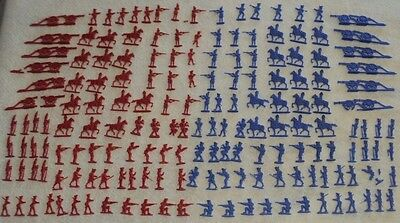 Vintage Comic Flats Plastic Revolutionary War Figures Over 180 Pcs. Helen Of Toy
