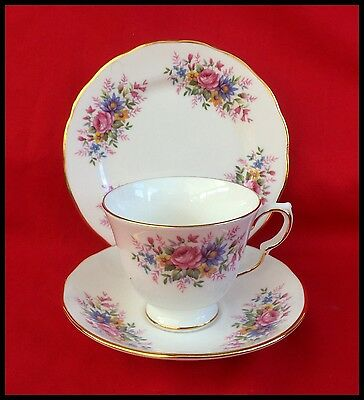 Vintage Queen Anne Bone China  Cup, Saucer And Tea Plate Trio