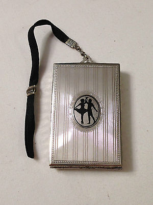DFB CO. Engine Turned SILHOUETTE compact purse necessaire circa 1920s