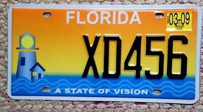 Florida Lighthouse State Of Vision Colorful Specialty License Plate Auto Tag Fla