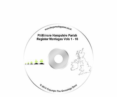 Phillimore Hampshire Parish Register Marriages Vols 1-16