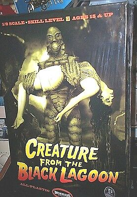 CREATURE FROM THE BLACK LAGOON With Victim MOEBIUS MODEL KIT 1/8 Scale 2012 MIB