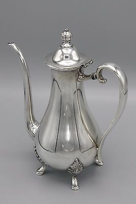 Vtg Wm Rogers Silver Plated Hollowware Coffee Pot Footed Hamilton Canada