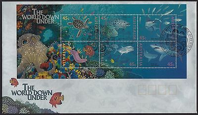 Australia  1995 The World Down Under Mini Sheet  Fdc