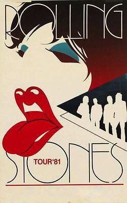 Rolling Stones Tour 1981  Metal Tin Sign Poster Wall Plaque