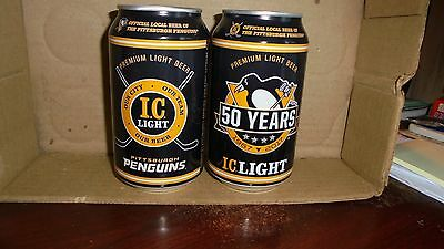 I . C. Light Pittsburgh Penguins 50 Years   Beer Can