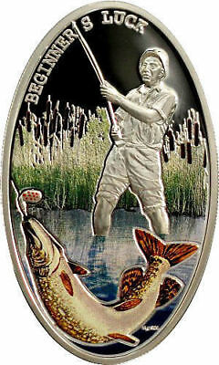 2012 Niue Island - Fishing - Begginers Luck - Blister 1 Silver Proof Coin
