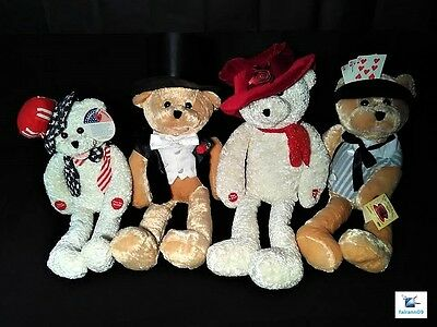 """PBC Chantilly Lane 20"""" Group of Four Singing Bears 4 different songs"""