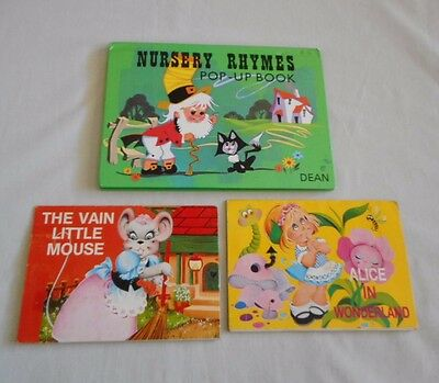 VINTAGE CHILDREN'S POP-UP BOOKS a total of 3 books
