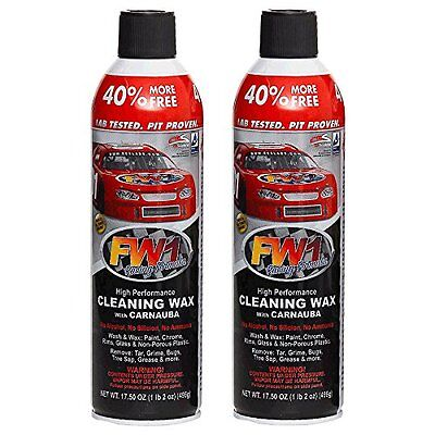 2 X FW1 Fastwax Cleaning Waterless Wash & Wax with Carnauba. 7 Day Special!