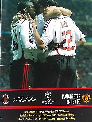 AC Milan v Manchester United 2007 Uefa Champions League Semi.CHEAPEST ON EBAY
